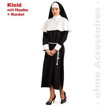 Nonne Kostüm Damen Nonnenkostüm Nonnenkleid Ordensschwester Damenkostüm