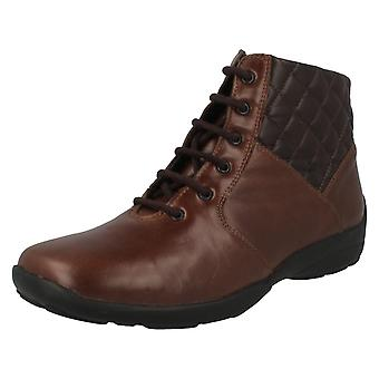 Ladies Easy B Lace Up Ankle Boots Calypso