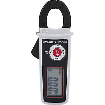 VOLTCRAFT VC-340 Clamp meter Digital Calibrated to: Manufacturer's standards (no certificate) CAT II 600 V, CAT III 300