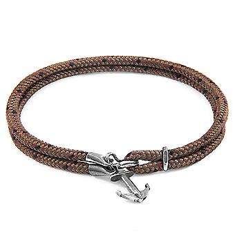 Brown Brighton Silver and Rope Bracelet