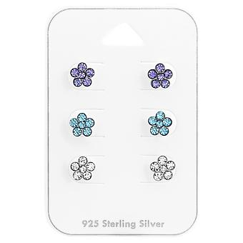 Flower - 925 Sterling Silver Sets - W38081x