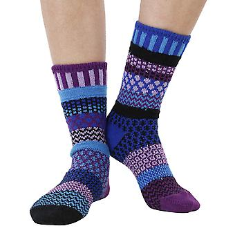 Raspberry recycled cotton multicolour odd-socks   Crafted by Solmate