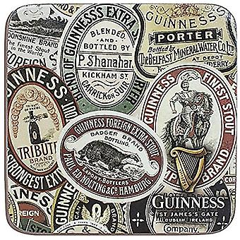 Guinness Label Montage cork backed drinks coaster (sg)