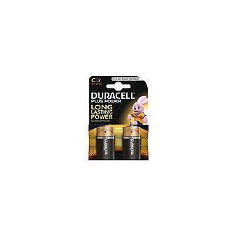 Duracell Plus Power 10 jaar Baby C Alkaline Batterijen 2stuks