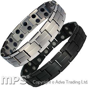 MPS® ELAR Men's Titanium Magnetic Bracelet + Free Link Removal Tool