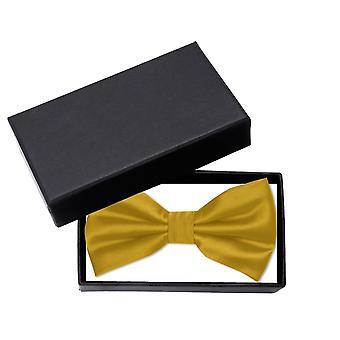 Gold fly loop Fabio Farini noble uni gloss festive bow tie single color