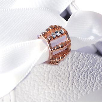 Rose Gold Crystal Toggle Schuh Charme