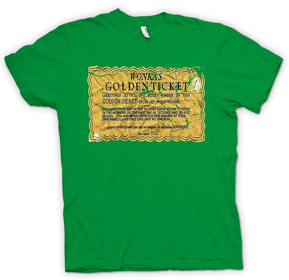 Herr T-shirt - Willy Wonka Golden Ticket - Funny