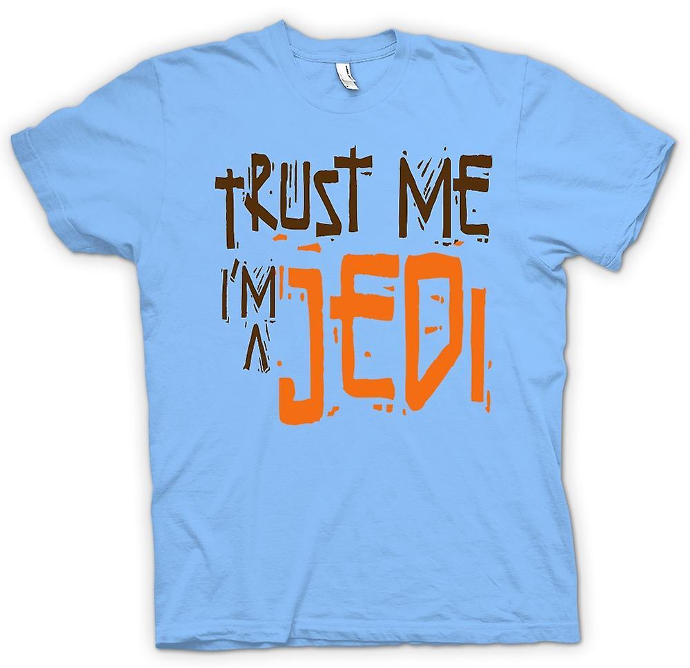 Herr T-shirt - lita på mig jag är en Jedi - rolig