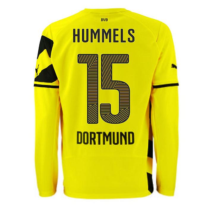 2014-15 Borussia Dortmund Long Sleeve Home Shirt (Hummels 15)