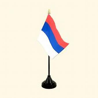 Serbia Table Flag with Stick and Base