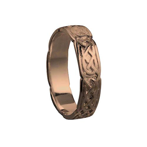 9ct Rose Gold 4mm Celtic Wedding Ring Size H