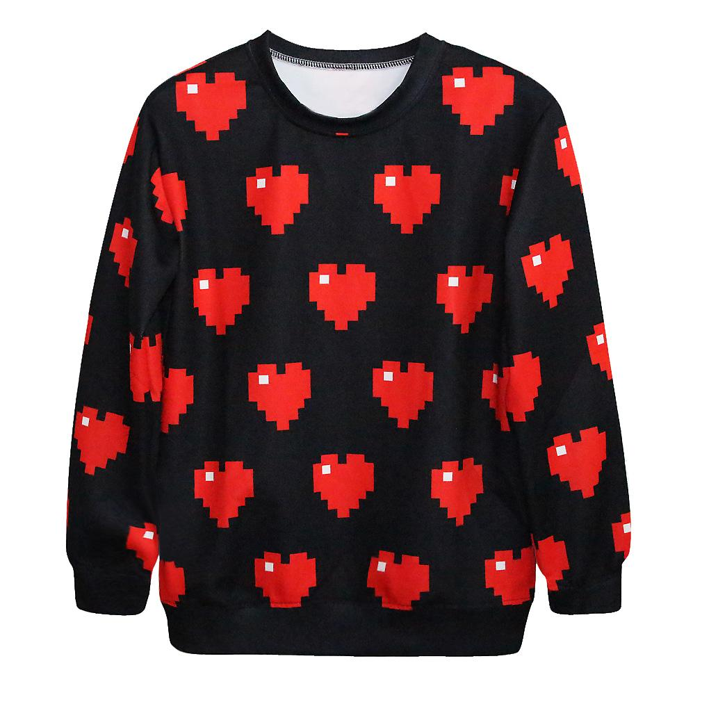 Waooh - Sweatshirt printed hearts pixelated HOLB?