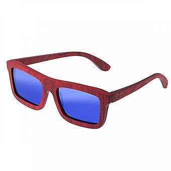 Spektrum Clark Wood polarisierte Sonnenbrille - Kirsche/blau