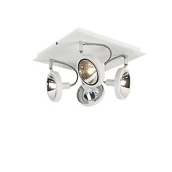 QAZQA proyector moderno 4 blanco - Nox