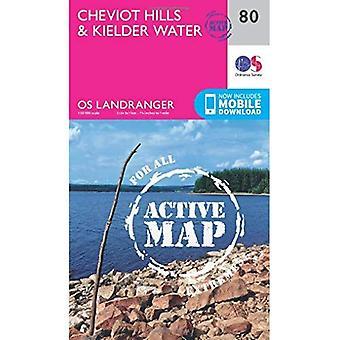 Cheviot Hills & Kielder Water (OS Landranger Map)