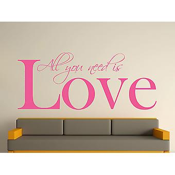 All You Need Wall Art Sticker - Pink