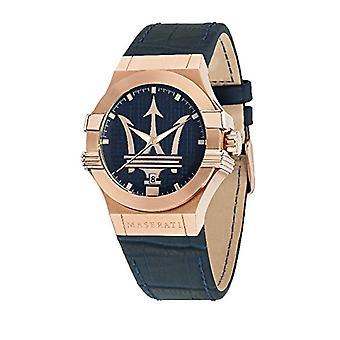 MASERATI Analog quartz men's watch with leather R8851108027
