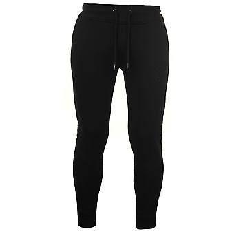 Fabric Mens Embroidered Tapered Jogging Bottoms Sports Training Trousers Pants
