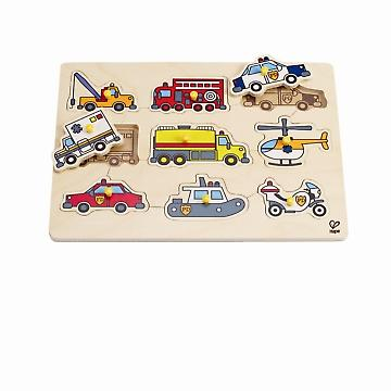 HAPE E1400 Emergency Vehicles Peg Puzzle E1400