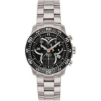 Traser H3 Ladytime black chronograph mens watch T7392. 2AH. G1A. 01 100298
