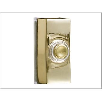 Byron Wired Bell Push Surface Mounted Brass