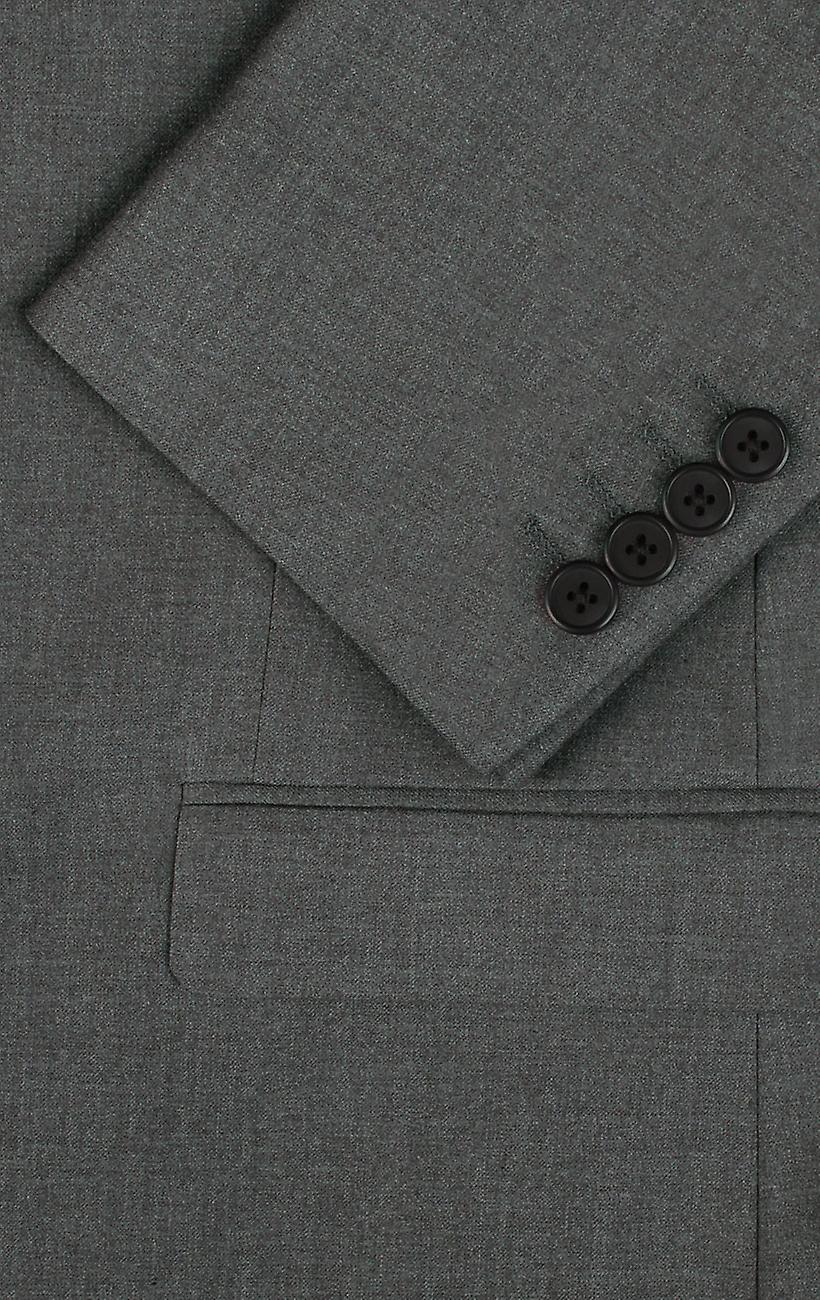 Dobell Mens Light Grey Suit Trousers Regular Fit Travel//Performance