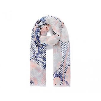 Intrigue Womens/Ladies Poppy Print Crinkle Scarf