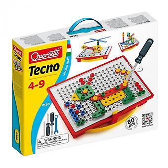 Quercetti Tecno 80 Piece Tool Board Ages 4-9 Years