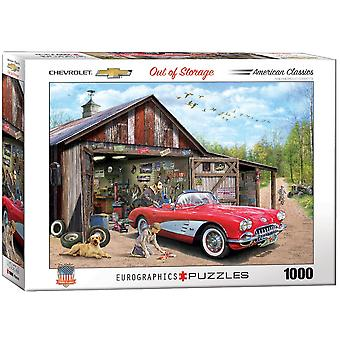 Chevrolet Out Of Storage 1000 Piece Jigsaw Puzzle 680mm x 490mm (pz)