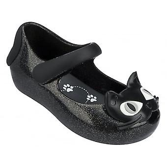 Melissa zapatos mini Ultragirl Kitty 14, negro Glitter