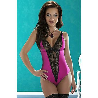 Avanua Lingerie Camelia Pink Lycra Body with Black Lace