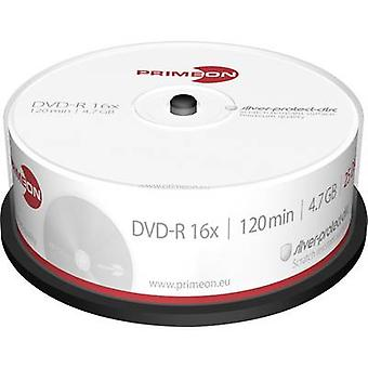 Primeon 2761203 Blank DVD-R 4.7 GB 25 pc(s) Spindle Silver matte surface