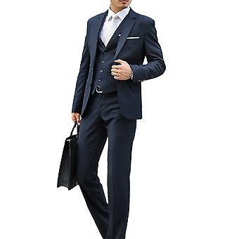 Allthemen Mens 2pcs Silm fit Solid 2 pieces Suit( Blazer &Pants )