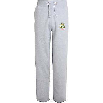 Kings Own Royal Border Regiment Veteran - Licensed British Army Embroidered Open Hem Sweatpants / Jogging Bottoms