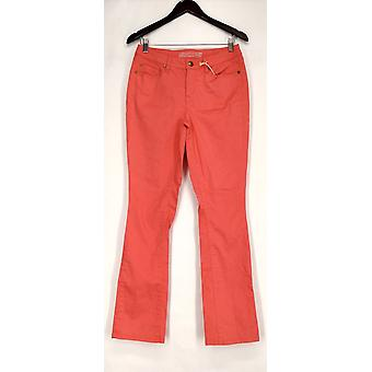 Isaac Mizrahi en direct! Pantalon Stretchy Slim jambe Saumon rose A220443