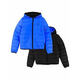 BOSS Kidswear BOSS Blue & Black Down Filled Reversible Jacket
