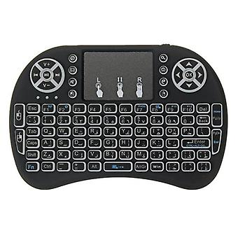I8 three color backlit arabic version 2.4g wireless mini keyboard touchpad air mouse