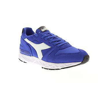 Diadora Titan Reborn Chromia Mens Blue Suede Sneakers Low Top Shoes