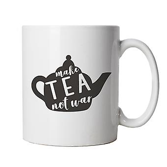 Make Tea Not War, Mug | Beverage Tea Coffee Alcohol Smoothie Juice Water | Cake Scone Bread Pastry Biscuit Pie Patisserie | Food Funny Cup Gift
