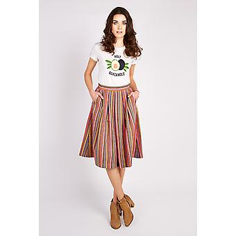 Valley of the Dolls Pasadena Ahola Stripe Midi Skirt