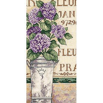 Gold Collection Petite Hydrangea Floral Counted Cross Stitch 4