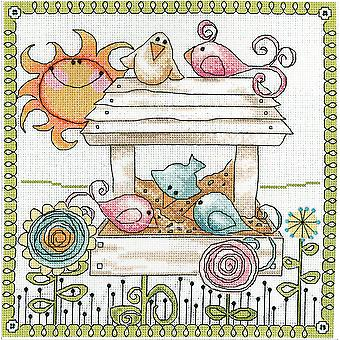 Bird Feeder Counted Cross Stitch Kit-10