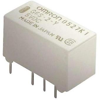 PCB relays 24 Vdc 2 A 2 change-overs Omron G6S-2 2