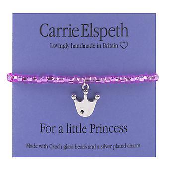 Carrie Elspeth til en lille prinsesse Crown børne armbånd