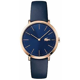 Lacoste Womans Navy Leather Strap Navy Dial Gold Case 2000950 Watch