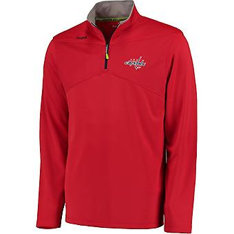 Reebok Center Ice Baselayer 1/4 Zip NHL Jacke Washington Capitals