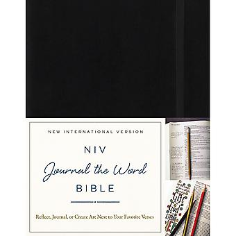 NIV Journal The Word Hardcover Bible-Black JB5548
