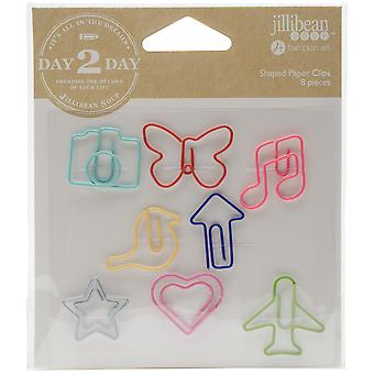 Day 2 Day Planner Shaped Clips 8/Pkg-Everyday JB1216