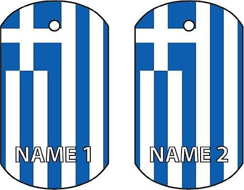 Personalised Greece Dog Tag Car Air Freshener